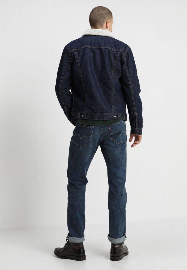 Levi's® TYPE 3 SHERPA TRUCKER - Kurtka jeansowa - rockridge/ciemnoniebieski Odzież Męska BGRY