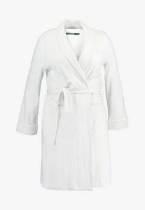 ESSENTIALS COLLAR ROBE - Dressing gown - white