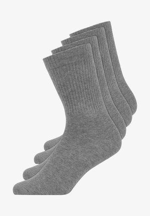 BUSINESS MIT LOGO PACK OF 4 - Socks - grau