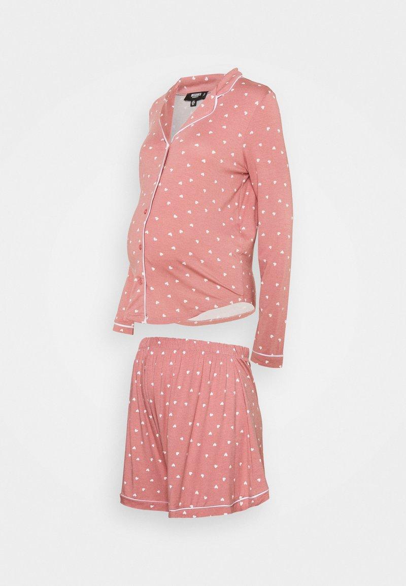 Missguided Maternity - MATERNITY NIGHT SET - Pyžamo - rose