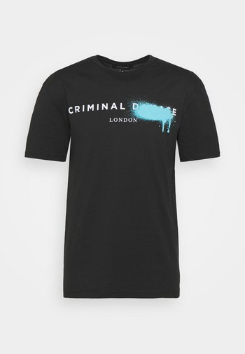 LOGO SPRAY TEE - T-shirts med print - black