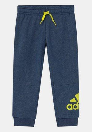 UNISEX - Teplákové kalhoty - dark blue/neon yellow