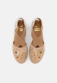 Kanna - ADA - Korkeakorkoiset sandaalit - beige - 5
