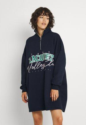 QUARTER ZIP DRESS - Vapaa-ajan mekko - navy