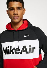 Nike Sportswear - AIR HOODIE - Hoodie - black/white/university red - 3