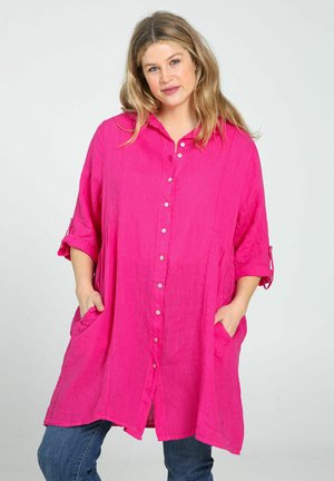 Button-down blouse - fushia