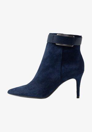 GITAR - High heeled ankle boots - dark navy