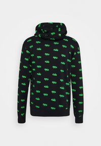 Nike Sportswear - CLUB HOODIE SCRIPT - Hoodie - black/mean green/white - 1