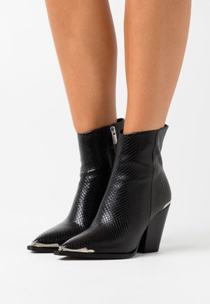 BOTTINES - High heeled ankle boots - black