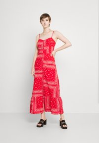 Never Fully Dressed - RED BANDANA DRESS - Maxi dress - red - 1