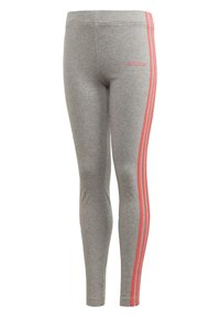 adidas Performance - ESSENTIALS 3-STRIPES LEGGINGS - Leggings - grey - 0