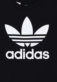 adidas Originals - TREFOIL - T-shirt imprimé - black/white - 3