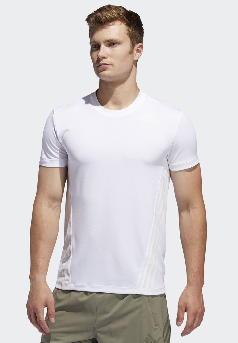 adidas Performance - AEROREADY 3-STRIPES  - T-shirt basic - white