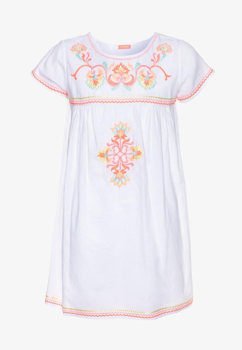 Sunuva - GIRLS EMBROIDERED PERUVIAN STITCH DRESS - Akcesoria plażowe - white