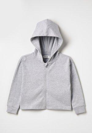 Hoodie met rits - mottled light grey