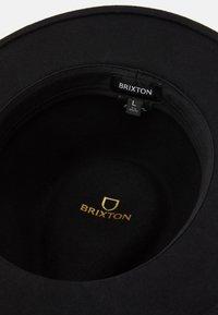Brixton - MESSER FEDORA - Hatt - black - 3