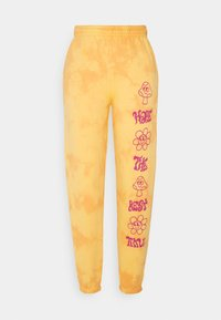 NEW girl ORDER - HAVE THE BEST TIME TIE DYE  - Tracksuit bottoms - orange - 0