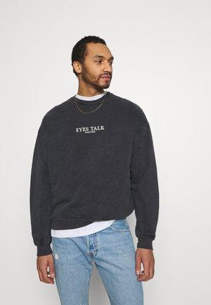 CREW TIE DYE EYES TALK - Sweatshirt - black