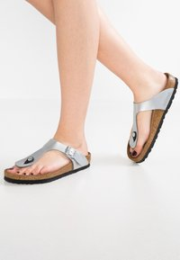 Birkenstock - GIZEH - T-bar sandals - silver - 0