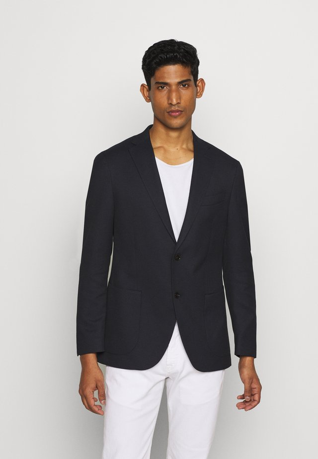 SLIM FIT STRUCTURE BLAZER - Blazer jacket - navy