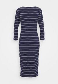 Anna Field - Jersey dress - dark blue/white - 1