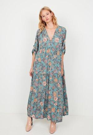 LONG FLORAL PRINT FLORAL - Robe longue - blue/multicolor
