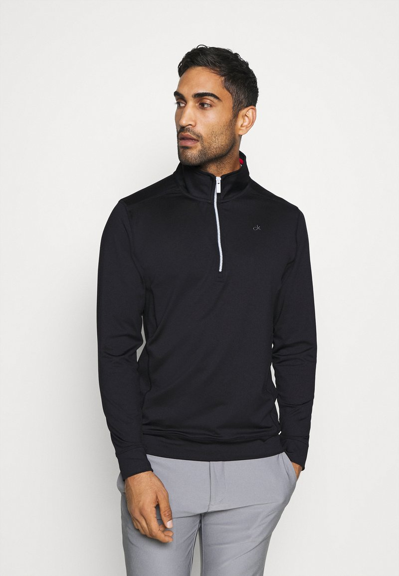 Calvin Klein Golf - ORBIT HALF ZIP - Top sdlouhým rukávem - black/red