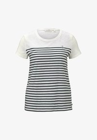 TOM TAILOR DENIM - Camiseta estampada - gardenia white - 4
