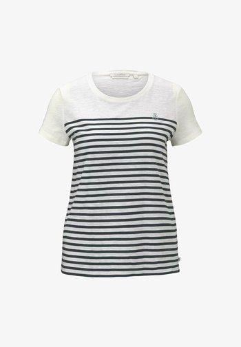 T-shirt print - gardenia white