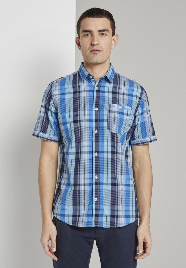 Koszula - blue shades colourful check