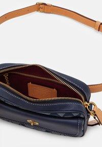 Coach - SIGNATURE CHAMBRAY CONVERTIBLE WAIST PACK - Across body bag - chambray midnight navy - 3