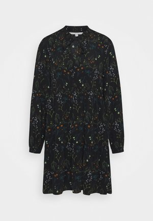 PRINTED DRESS WITH BOW DETAIL - Day dress - black