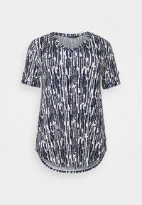 Evans - TURN BACK TOP - Print T-shirt - navy - 4