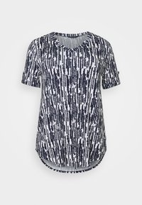 TURN BACK TOP - Print T-shirt - navy