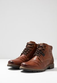 Pier One - Lace-up ankle boots - cognac - 2