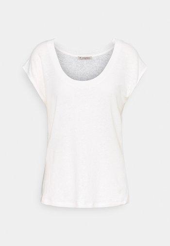 T-SHIRT-LINEN BLEND - T-shirts med print - off-white