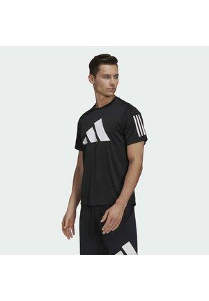 FL 3 BAR TEE - Print T-shirt - black