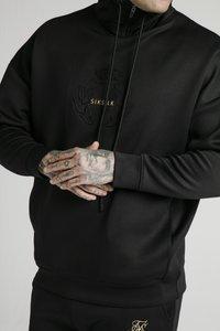SIKSILK - ELEMENT QUARTER ZIP HOODIE - Felpa - black/gold - 5