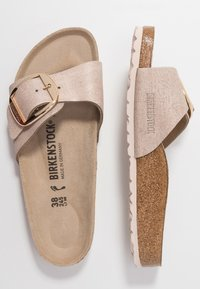 Birkenstock - MADRID BIG BUCKLE - Pantuflas - washed metallic/rose gold - 3