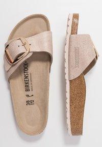 Birkenstock - MADRID BIG BUCKLE - Slippers - washed metallic/rose gold - 3