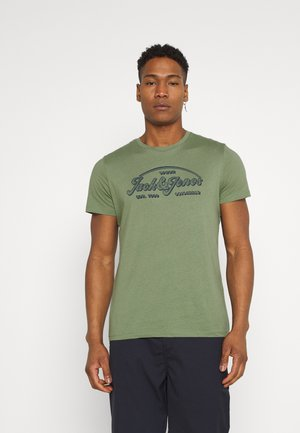 JORBRIANS TEE CREW NECK - Triko s potiskem - sea spray