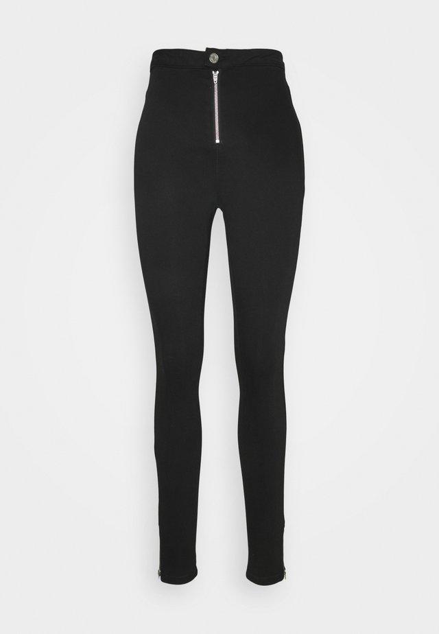 VICE HIGHWAISTED SKINNY WITHANKLE ZIP - Jeans Skinny Fit - black