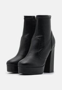 BEBO - WALKER - Kotníková obuv na vysokém podpatku - black - 2