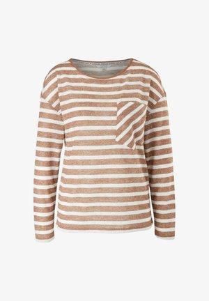 Long sleeved top - brown stripes