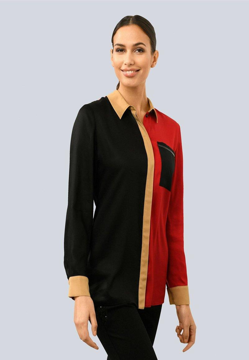 Alba Moda - Button-down blouse - schwarz,rot