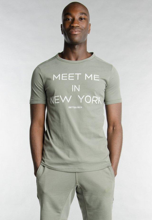 Print T-shirt - 5100 castor
