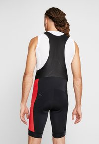 Craft - ADOPT BIB SHORTS - Tights - black/bright red - 2