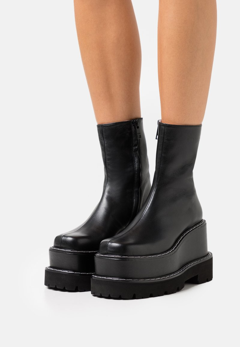 MSGM - STIVALE DONNA WOMAN'S BOOT - High heeled ankle boots - black