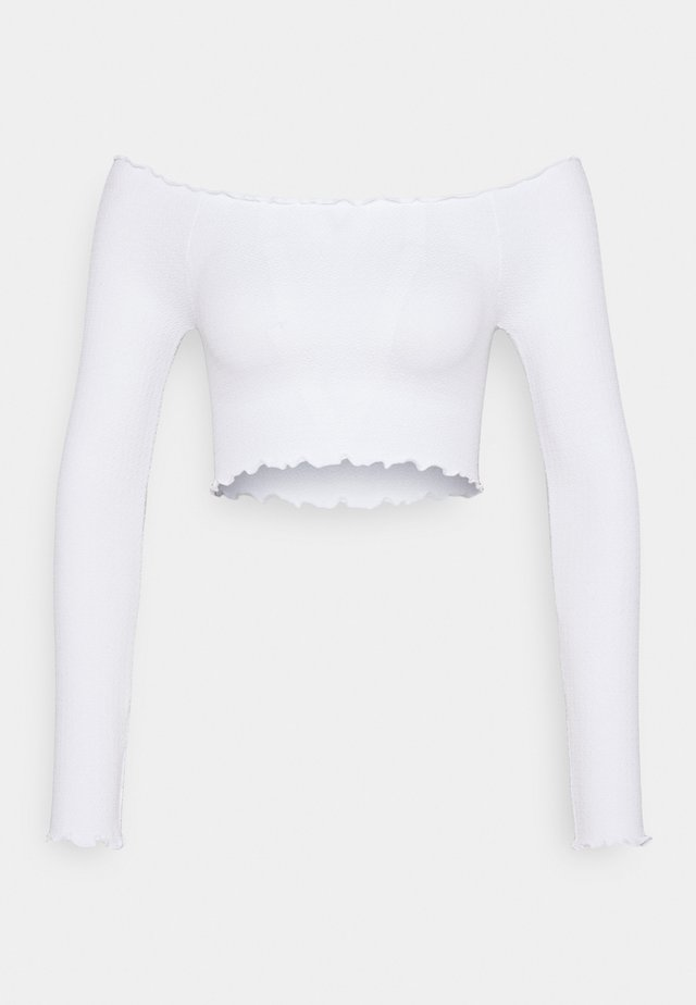 SEAM FREE OFF THE SHOULDER LONG SLEEVE - Top s dlouhým rukávem - white