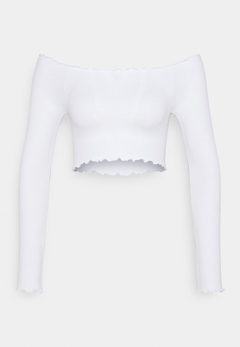 Cotton On - SEAM FREE OFF THE SHOULDER LONG SLEEVE - Long sleeved top - white